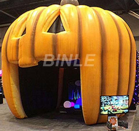 13'H Inflatable Pumpkin Tent - Inflatable Fun Warehouse