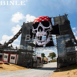 16' H Inflatable Halloween Skull (Style 2) - Inflatable Fun Warehouse