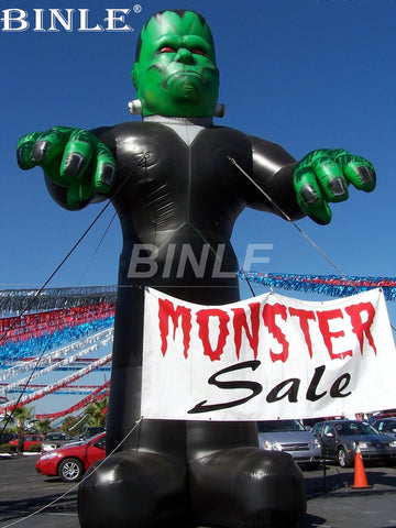 20' Inflatable Halloween Monster Frankenstein - Inflatable Fun Warehouse