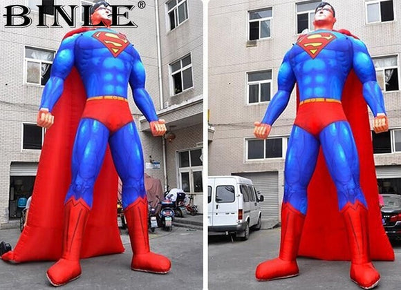 20', 26' or 32'H Inflatable Superman - Inflatable Fun Warehouse