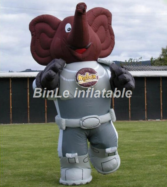 8'H Inflatable Elephant Mascot Costume - Inflatable Fun Warehouse