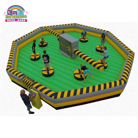 26' Diameter 8 Person Inflatable Meltdown Wipe Out Game - Inflatable Fun Warehouse