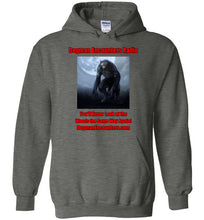 Dogman Encounters Nocturnal Collection Hooded Sweatshirt (red/black font) - Dogman Encounters