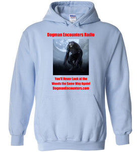 Dogman Encounters Nocturnal Collection Hooded Sweatshirt (red font) - Dogman Encounters