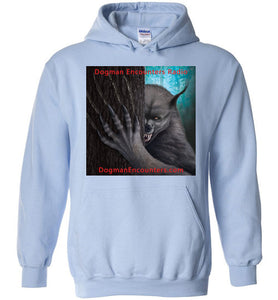 Dogman Encounters Rogue Collection Hooded Sweatshirt (square with red font) - Dogman Encounters