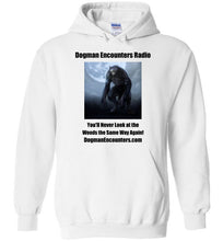 Dogman Encounters Nocturnal Collection Hooded Sweatshirt (black font) - Dogman Encounters