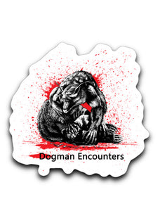 "4"" x 3"" Dogman Encounters Decals/Stickers"