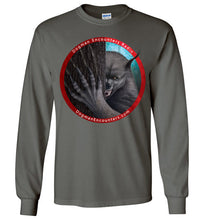 Men's Dogman Encounters Rogue Collection Long Sleeve T-Shirt (red border with white font) - Dogman Encounters