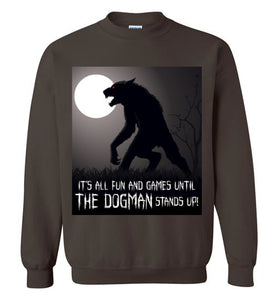 Bigfoot Eyewitness Deep Woods Collection Crew Neck Sweatshirt (Round) - Dogman Encounters