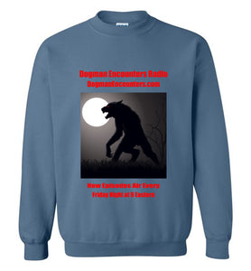 Dogman Encounters Stalker Collection Crew Neck Sweatshirt (red font) - Dogman Encounters