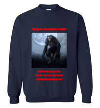 Dogman Encounters Nocturnal Collection Crew Neck Sweatshirt (red font) - Dogman Encounters