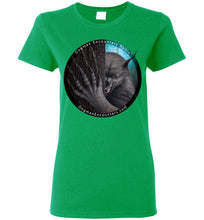 Ladies Dogman Encounters Rogue Collection T-Shirt (black border with white font) - Dogman Encounters