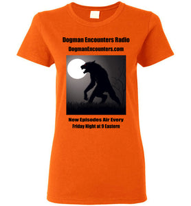 Ladies Dogman Encounters Stalker Collection T-Shirt (black font) - Dogman Encounters