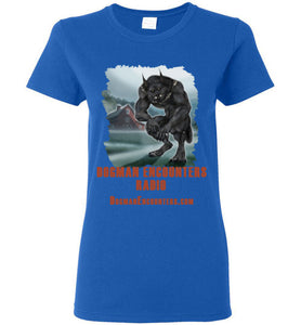 Ladies Dogman Encounters Episode 137 Collection T-Shirt(vertical design) - Dogman Encounters