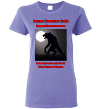 Ladies Dogman Encounters Stalker Collection T-Shirt (red/black font) - Dogman Encounters