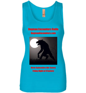 Women's Dogman Encounters Stalker Collection Tank Top (red font) - Dogman Encounters