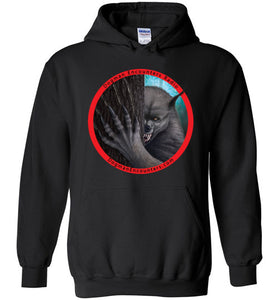 Dogman Encounters Rogue Collection Hooded Sweatshirt (red border with black font) - Dogman Encounters