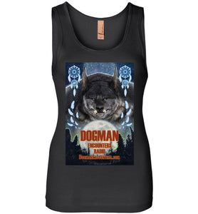 Women's Dogman Encounters Pathfinder Collection Tank Top (design 1, with straight border) - Dogman Encounters