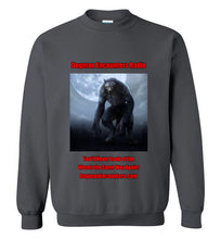 Dogman Encounters Nocturnal Collection Crew Neck Sweatshirt (red/black font) - Dogman Encounters
