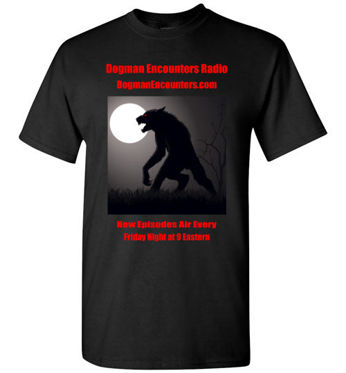 Men's Dogman Encounters Stalker Collection T-Shirt (red font) - Dogman Encounters