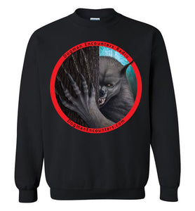 Dogman Encounters Rogue Collection Crew Neck Sweatshirt (red border with black font) - Dogman Encounters
