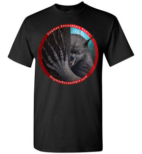 Men's Dogman Encounters Rogue Collection T-Shirt (red border with white font) - Dogman Encounters