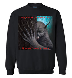 Dogman Encounters Rogue Collection Crew Neck Sweatshirt (square with red font) - Dogman Encounters
