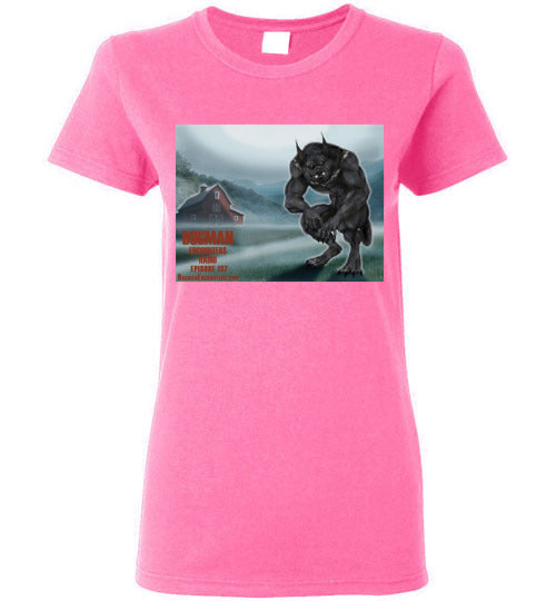 Ladies Dogman Encounters Episode 137 Collection T-Shirt (design 2) - Dogman Encounters