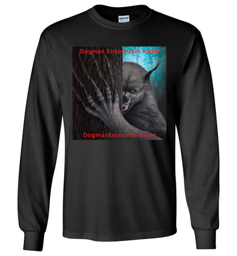 Men's Dogman Encounters Rogue Collection Long Sleeve T-Shirt (square with red font) - Dogman Encounters