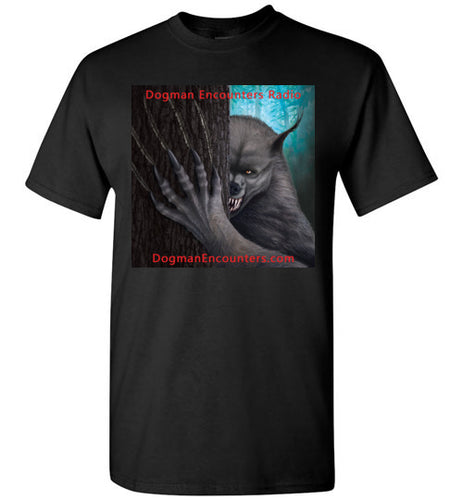 Men's Dogman Encounters Rogue Collection T-Shirt (square with red font) - Dogman Encounters