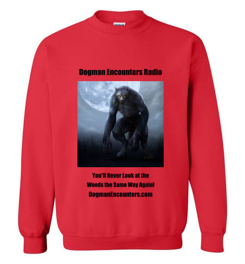 Dogman Encounters Nocturnal Collection Crew Neck Sweatshirt (black font) - Dogman Encounters