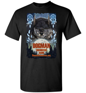 Men's Dogman Encounters Pathfinder Collection T-Shirt (design 1, with ripped border) - Dogman Encounters
