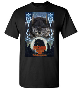 Men's Dogman Encounters Pathfinder Collection T-Shirt (design 3, with straight border) - Dogman Encounters
