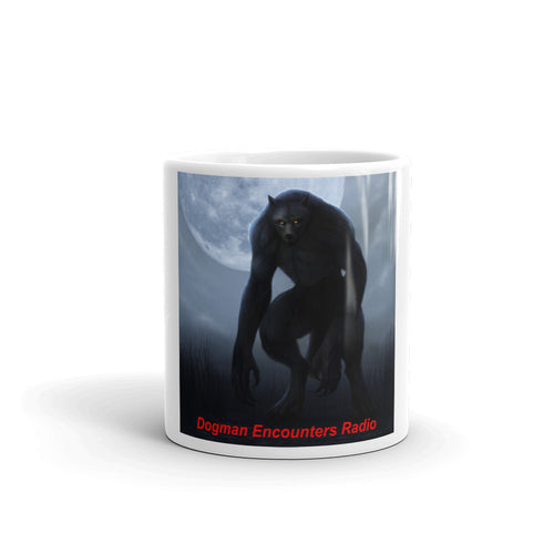Dogman Encounters Nocturnal Collection White Mug (design 1) - Dogman Encounters