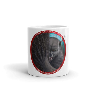 Dogman Encounters Rogue Collection White Mug (red/white font) - Dogman Encounters