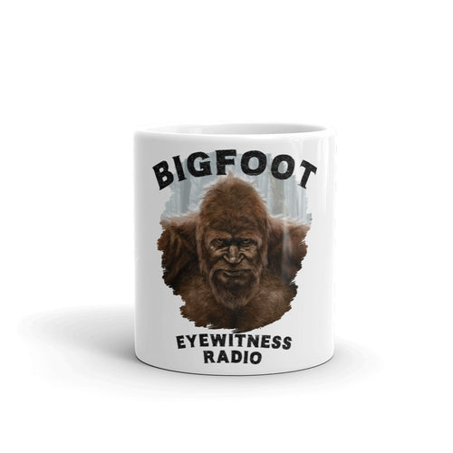 Bigfoot Eyewitness Deep Woods Collection White Mug