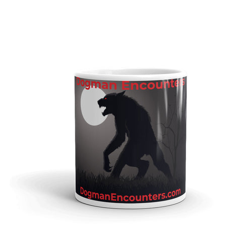 Dogman Encounters Stalker Collection White Mug - Dogman Encounters