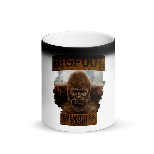 Matte Black Magic Bigfoot Eyewitness High Sierra Collection Mug