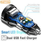 Dual USB Car Charger Digital Display