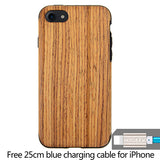 Luxury Wood Cover iPhone + FREE LIGHTNING