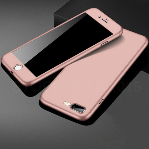 Luxury Case For iPhone With Screen Protector