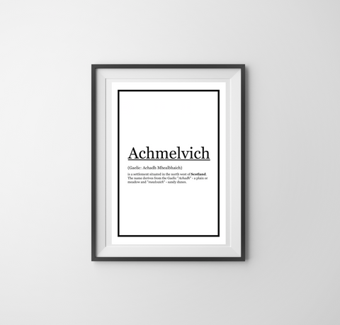 Achmelvich Description Print