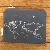 World Map Pouches