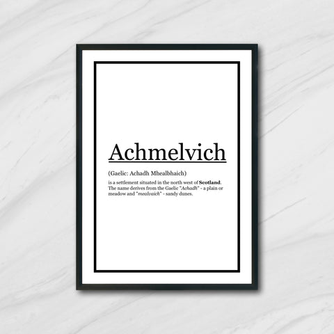 Print (A1): Achmelvich Definition