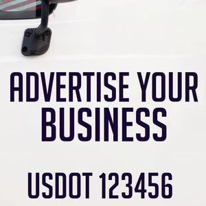 Advertise Your Business or Be USDOT Compliant With Our Custom Products