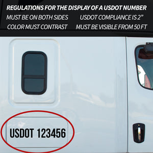 Regulations For Displaying A US DOT Number | Size and Location Requirements