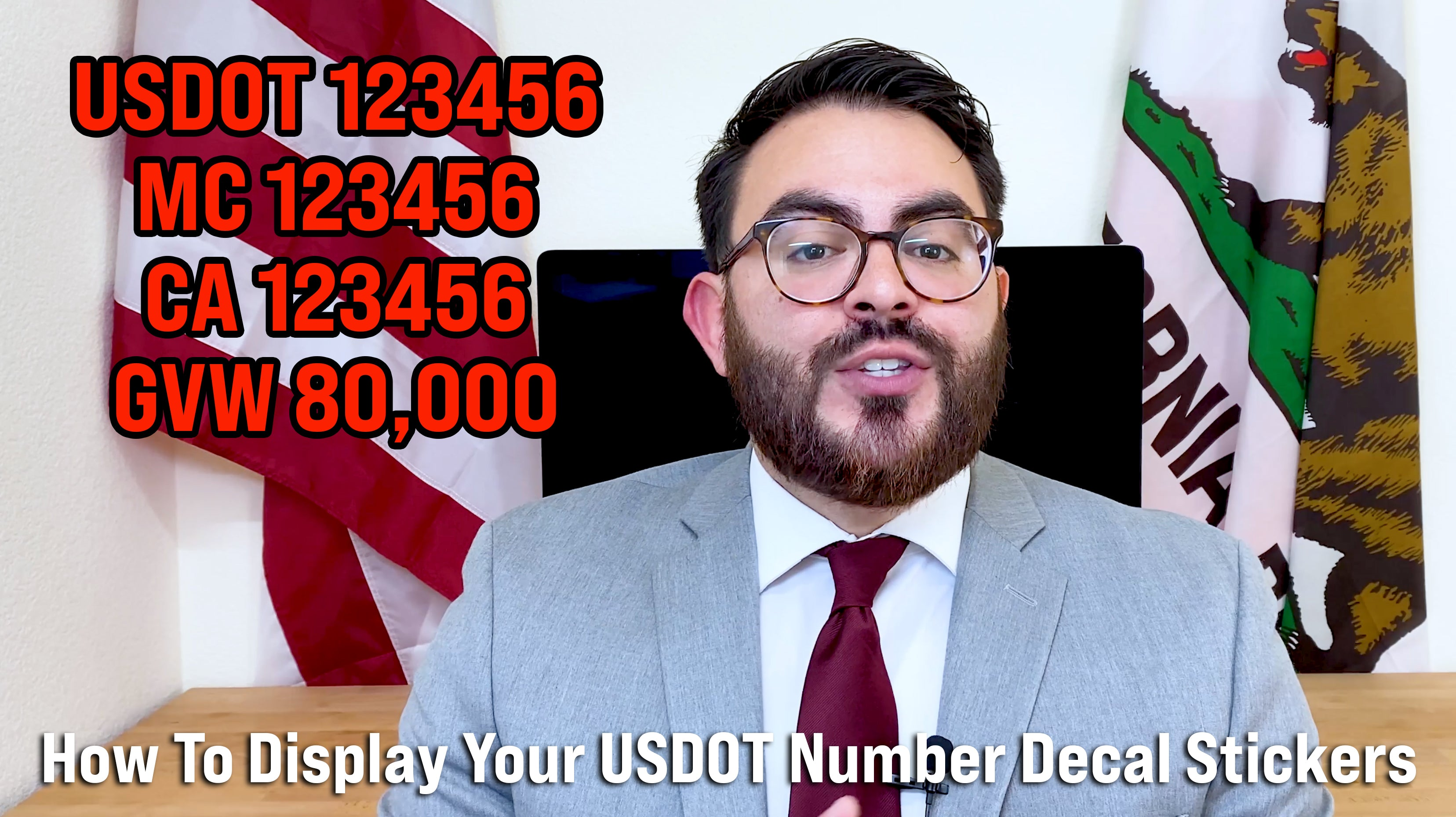 how to display your usdot number lettering