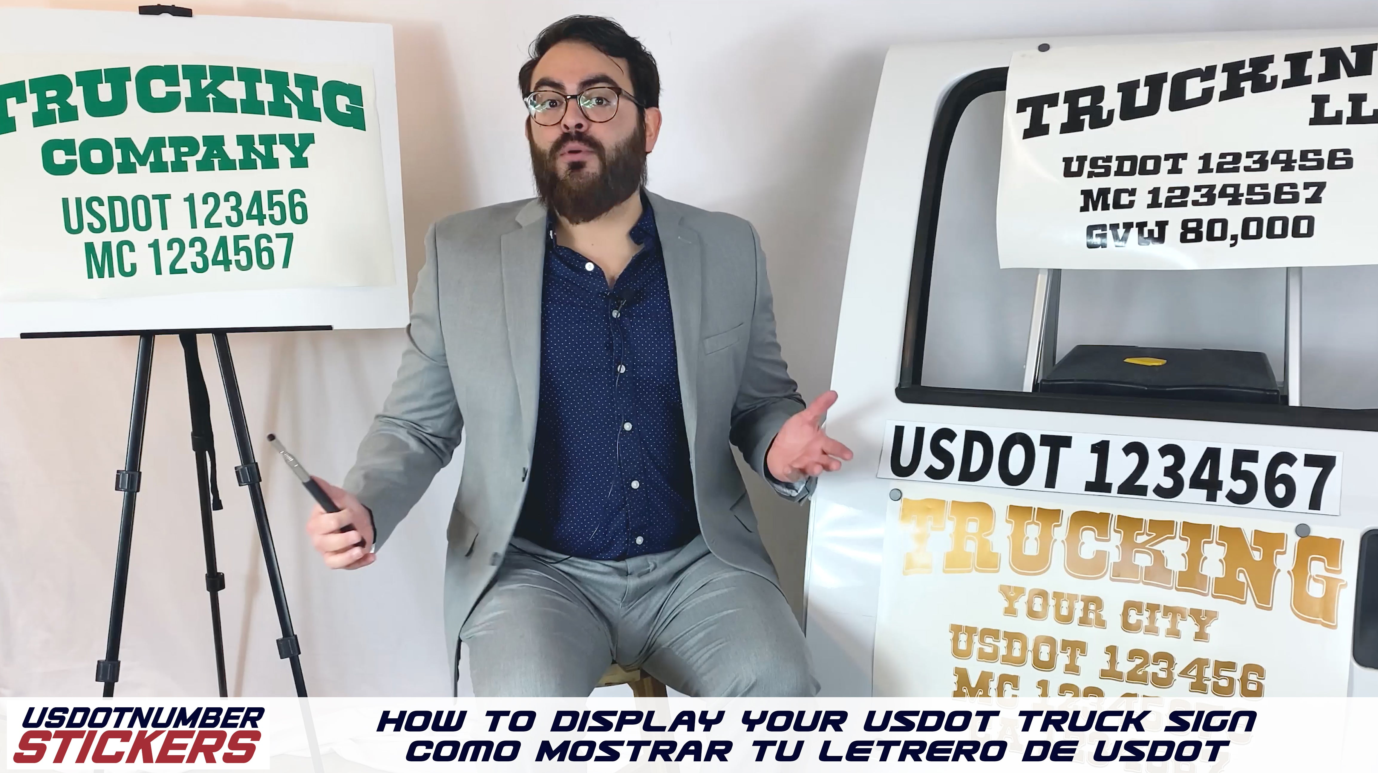 how to display your usdot sign lettering
