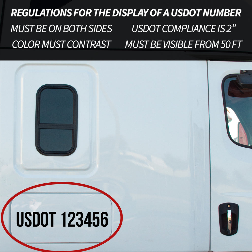 regulations for the display of a usdot number
