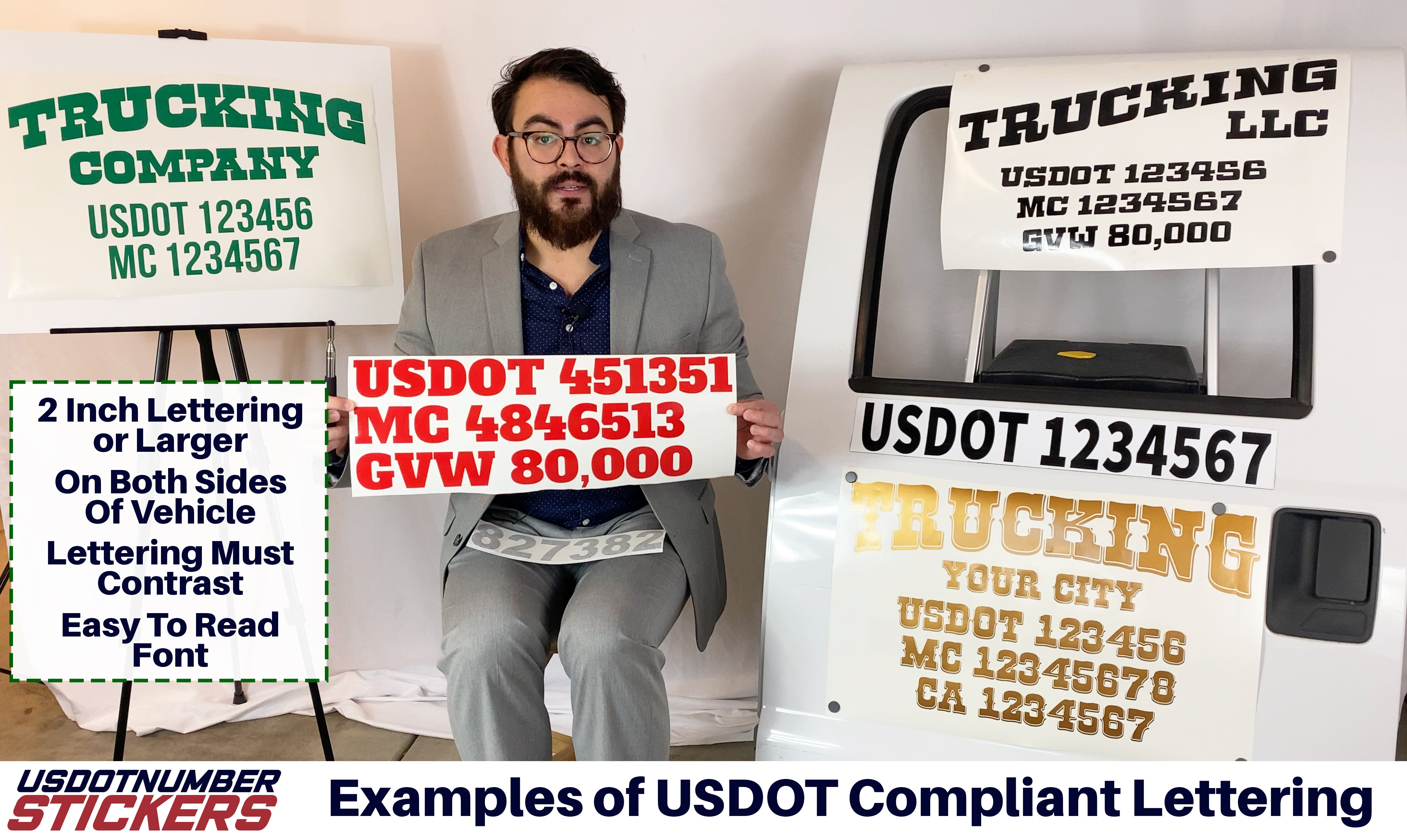 usdot lettering example